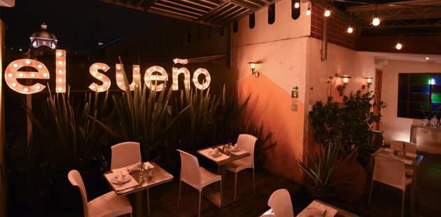 Terraza del hotel El Sueño en Puebla