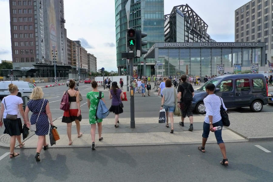 Potsdamer Platz es una importante zona comercial y de entretenimiento