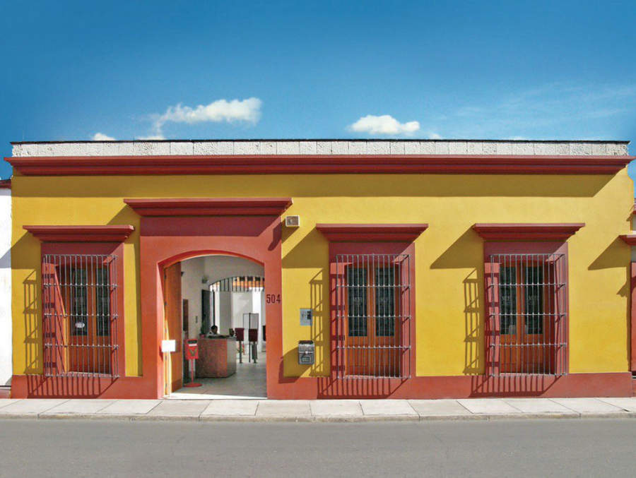 Fachada del Museo de Filatelia en la ciudad de Oaxaca