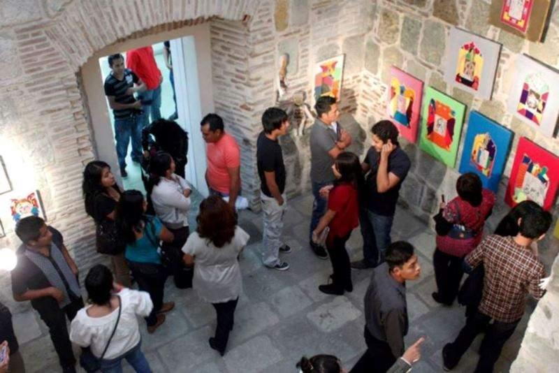 Interior del Museo Textil en Oaxaca de Juárez