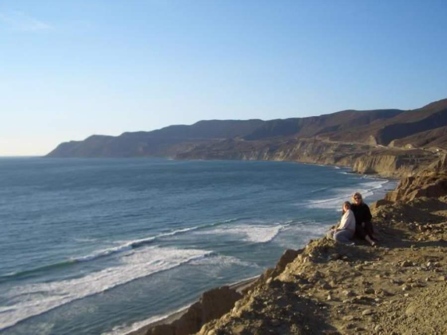 Vista del mar desde los cerros en Rosarito
