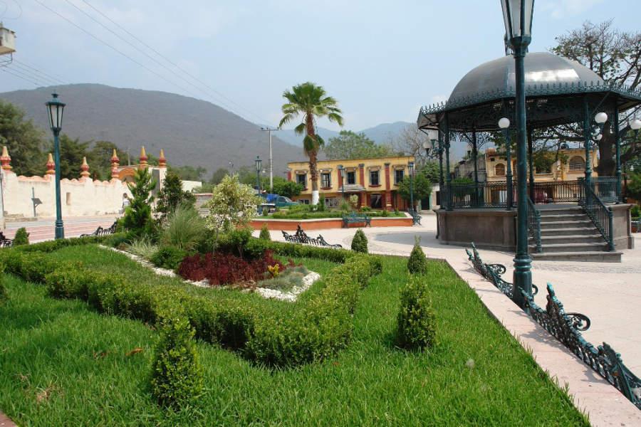 Plaza principal de Jalpan de Serra