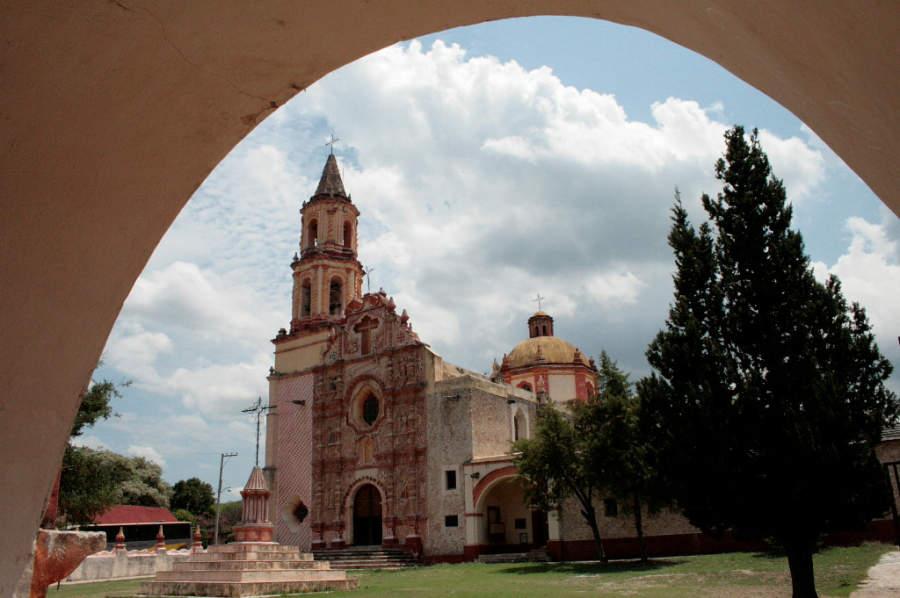 Iglesia de Nuestra Señora del Valle de la Luz de Tancoyol cerca de Jalpan de Serra