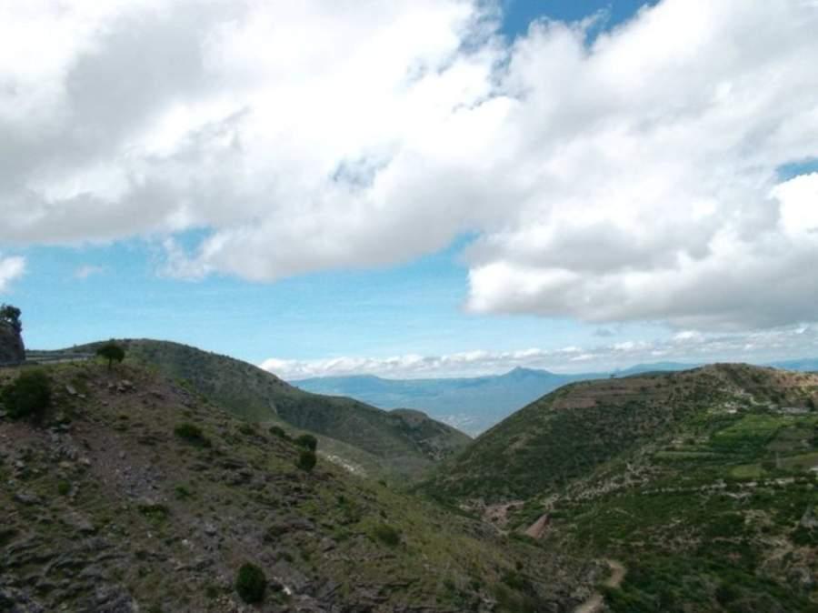 Vista de los cerros de la Sierra Gorda en Arroyo Seco