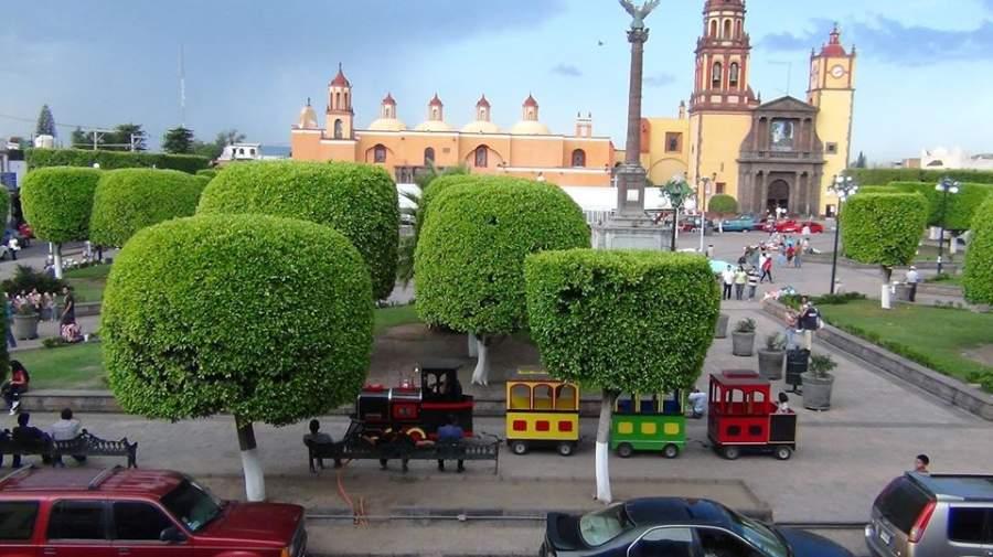 Plaza de la Independencia en el centro de San Juan del Río