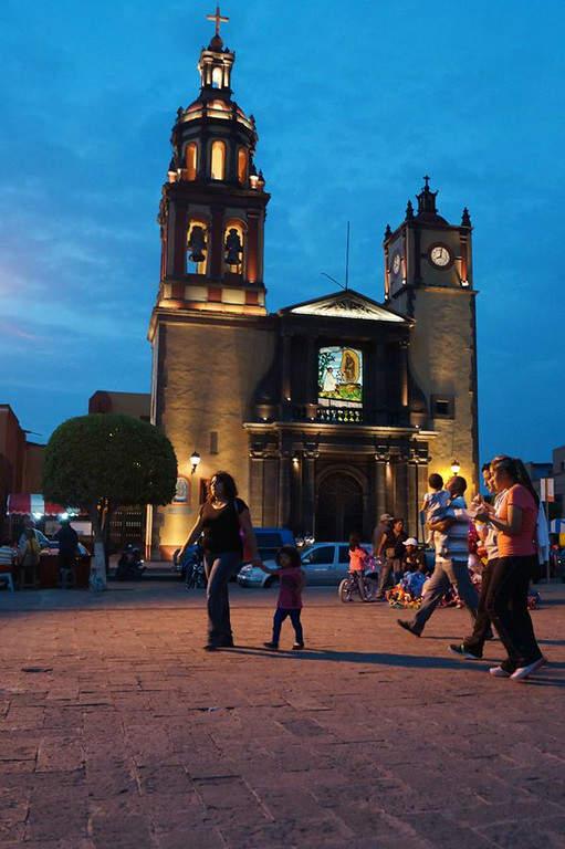 San Juan del Río es un bello sitio que vale la pena recorrer de noche
