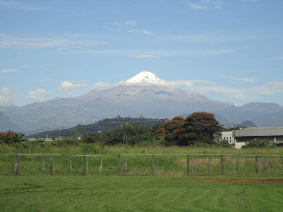 Vista del Pico de Orizaba desde Córdoba, Veracruz