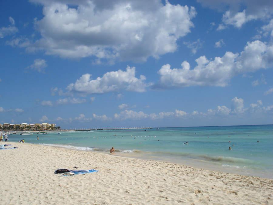 Las playas de Playa del Carmen son de arena blanca