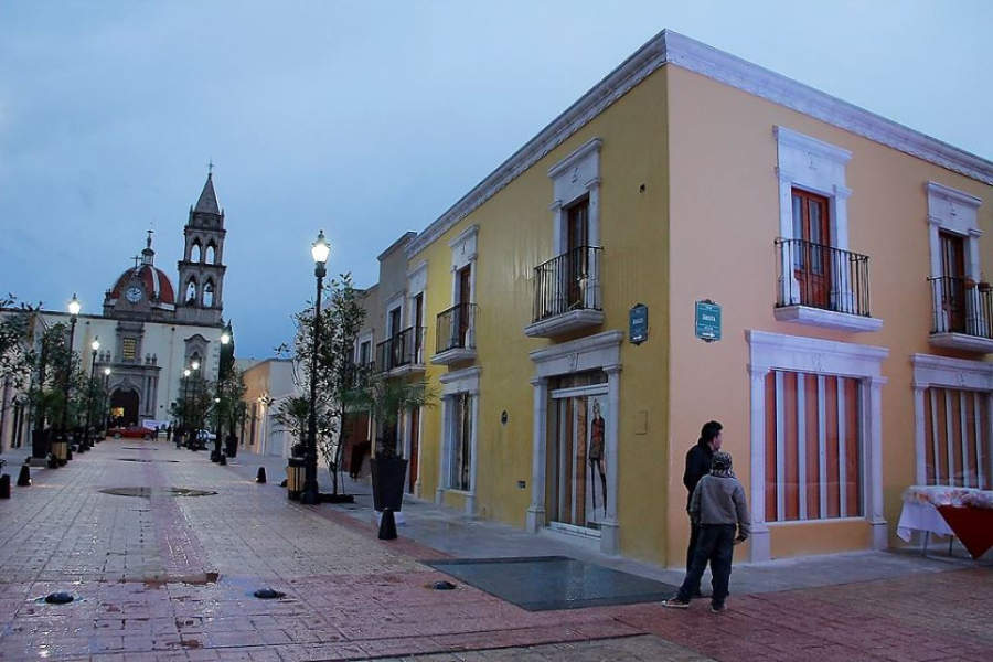 Una calle del centro histórico de Durango