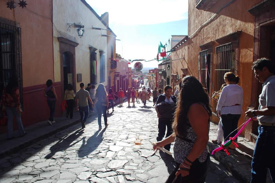 Una calle de San Miguel de Allende