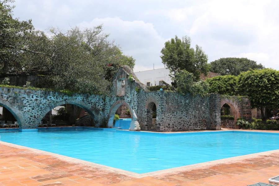 Alberca del Hotel Hacienda Cocoyoc