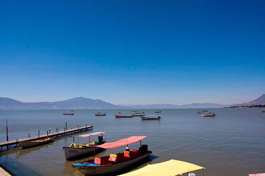Vista del lago de Chapala, cerca de Guadalajara