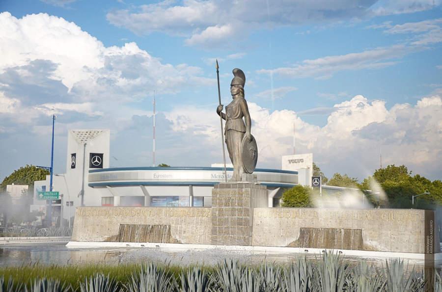 Fuente La Minerva, estatua representativa de Guadalajara