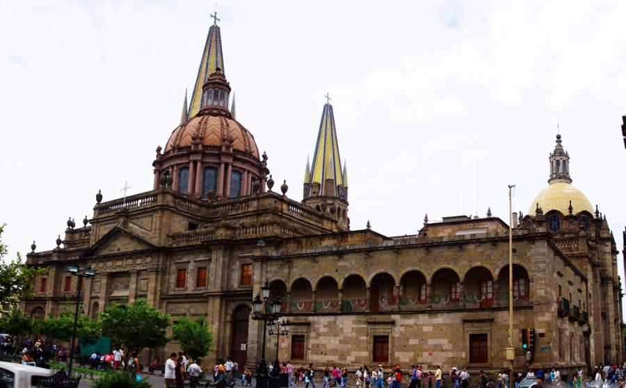 Catedral de Guadalajara en el centro histórico