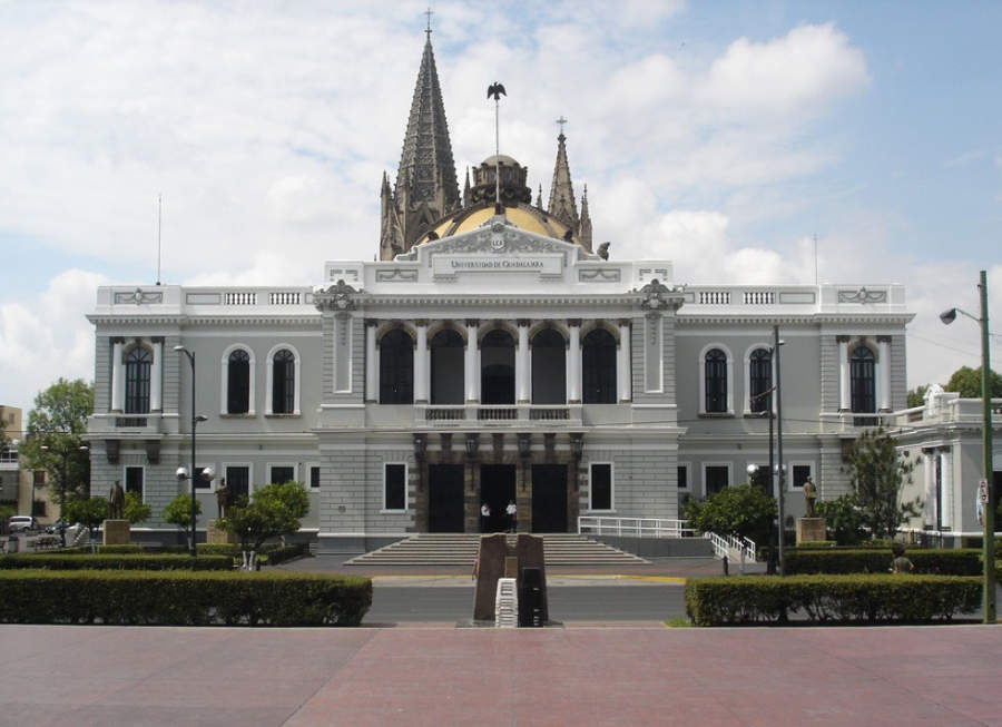 Fachada de la Universidad de Guadalajara