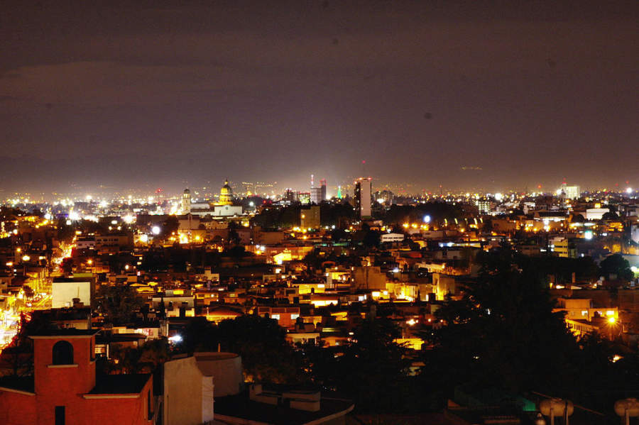 Vista nocturna de Toluca de Lerdo