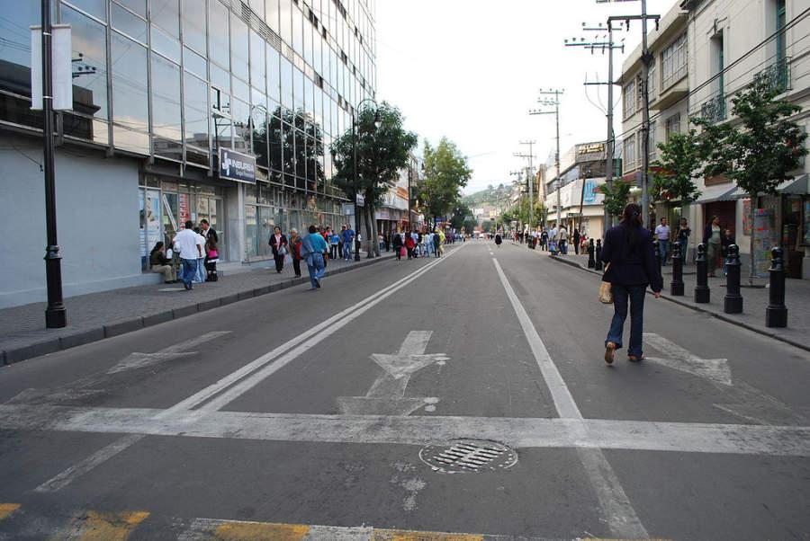 Avenida Benito Juárez, una de las vías más transitadas de Toluca