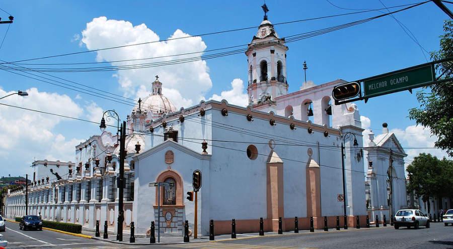 Parroquia de la Virgen de la Merced en la calle Morelos del centro de Toluca