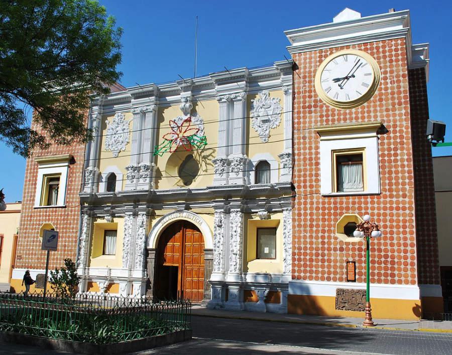 Edificio del Palacio de Justicia de Tlaxcala y también Capilla de Indios