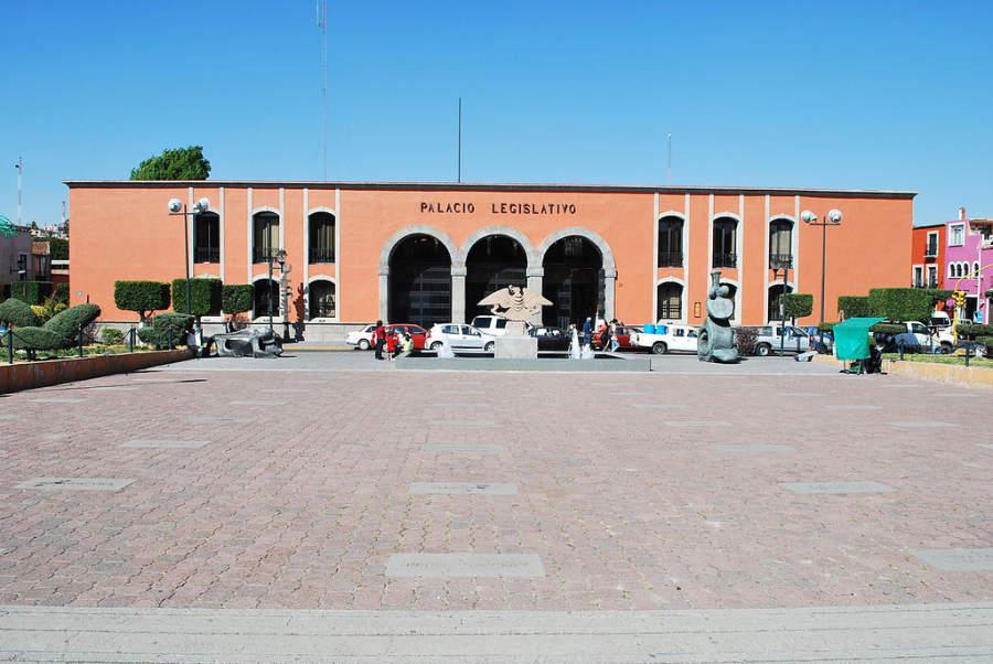 Palacio Legislativo de Tlaxcala en el centro histórico