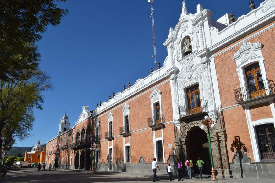 Fachada del Palacio de Gobierno de Tlaxcala contruido en 1545