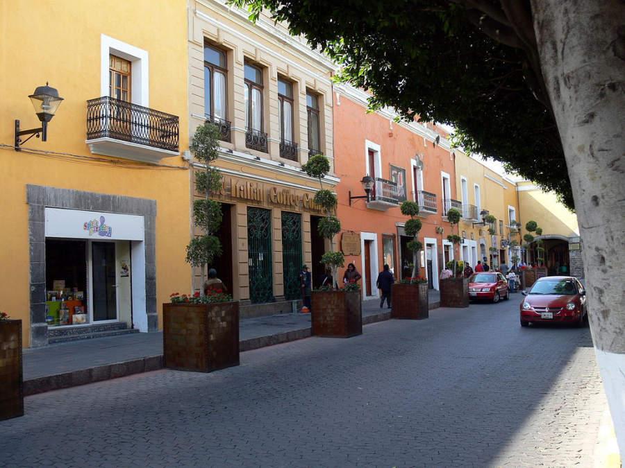 Avenida Juárez, importante zona comercial en Tlaxcala