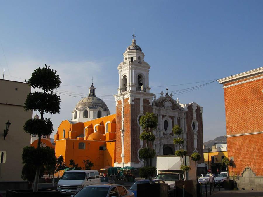 Vista de la Parroquia de San José en Tlaxcala