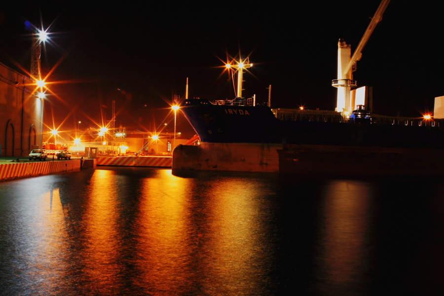 Anochecer en el Puerto de Veracruz