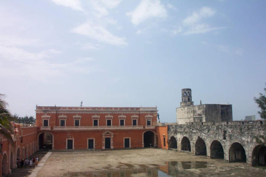 Interior del Fuerte de San Juan de Ulúa en Veracruz
