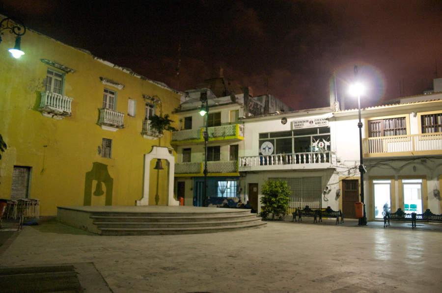 Plaza de la Campana en el Puerto de Veracruz