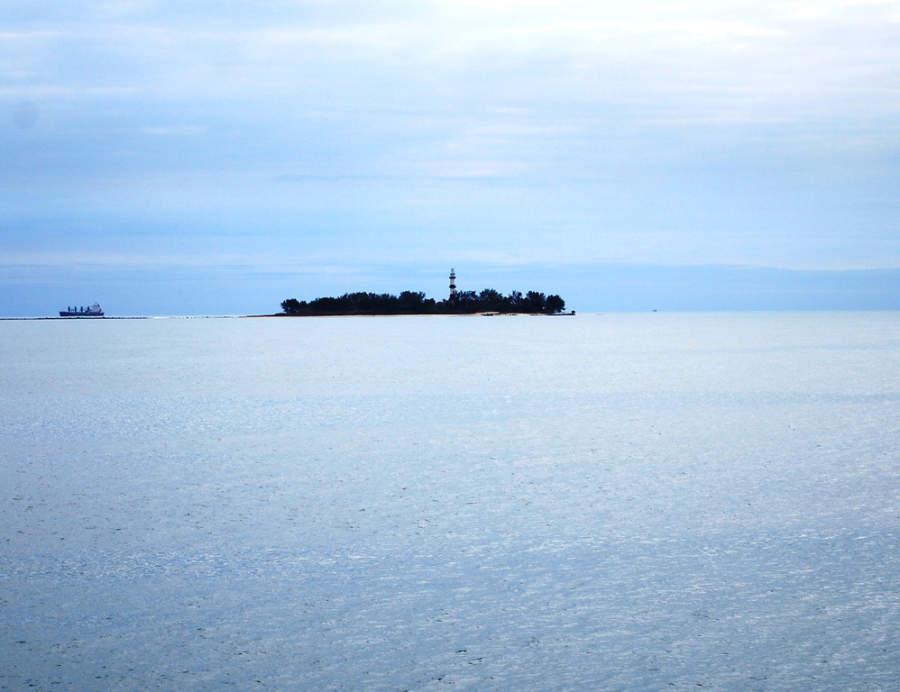 La Isla de Sacrificios vista desde Veracruz