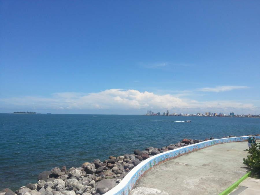 Vista del mar en Veracruz
