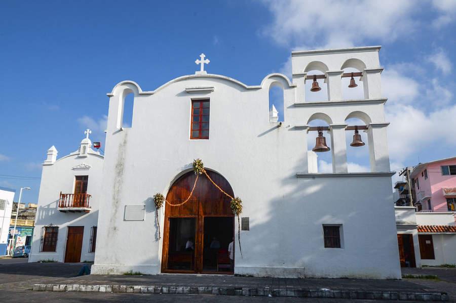 Vista exterior de la Capilla del Santo Cristo del Buen Viaje en Veracruz