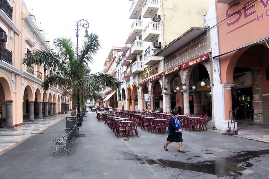 Pasillo de los Portales en Veracruz