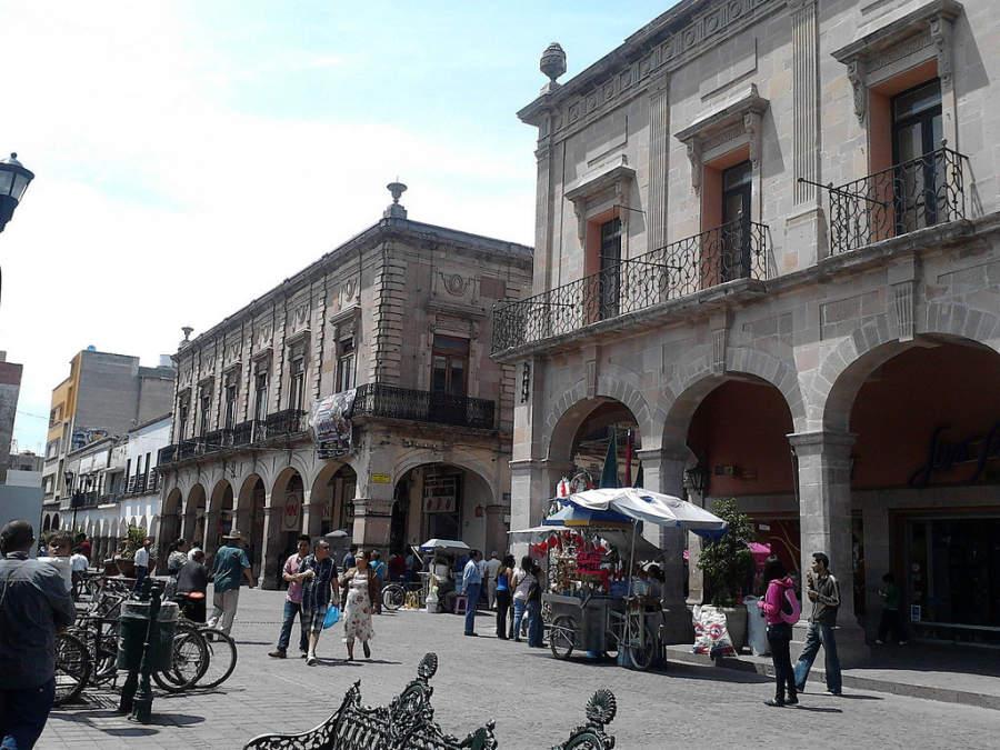 El centro histórico de Celaya alberga edificios de estilo colonial