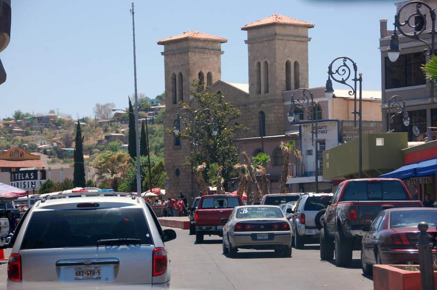Centro de Nogales en la frontera con Estados Unidos