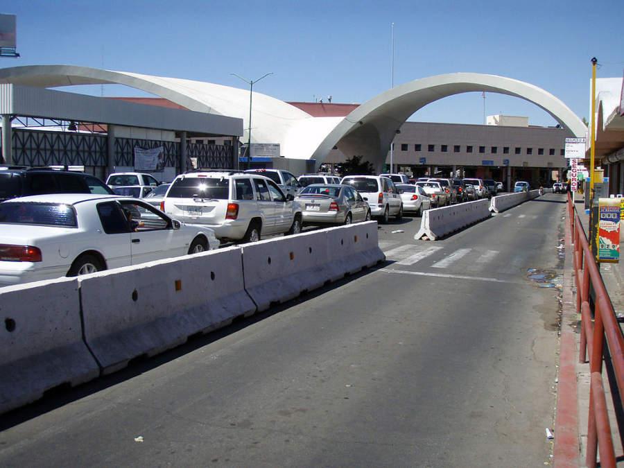 Arcos de Nogales en la frontera con los Estados Unidos