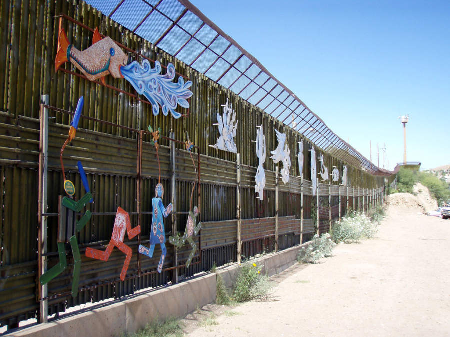 Mural fronterizo en Nogales, Sonora