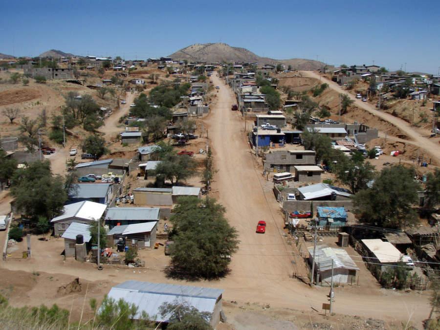 Vista de una colonia en Nogales, Sonora