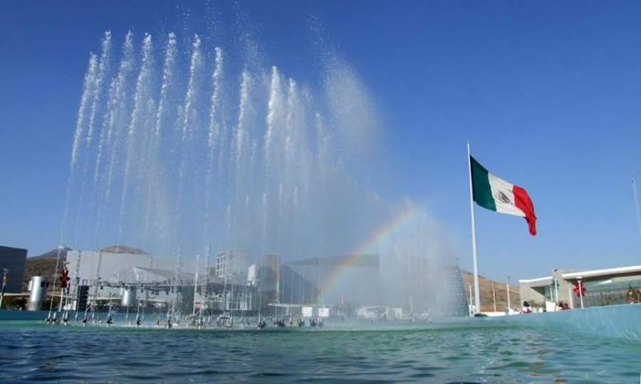 Fuentes del Parque Guanajuato Bicentenario en Silao