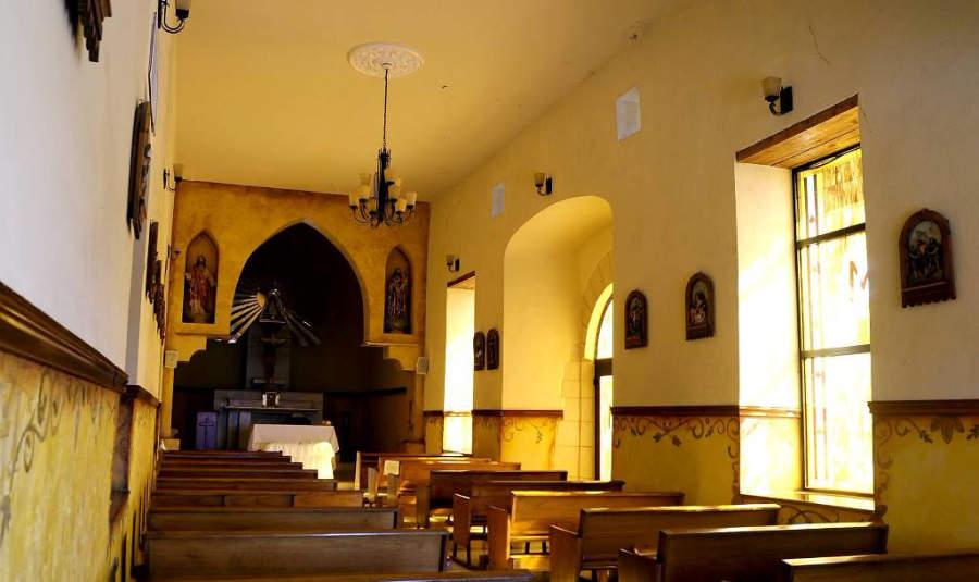 Vista interior de la Ermita de Zapopan en Monclova, Coahuila