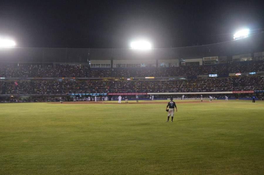 Vista del interior del Estadio de Béisbol Monclova