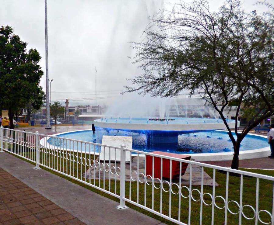 Fuente en el Parque Xochipilli de Monclova, Coahuila