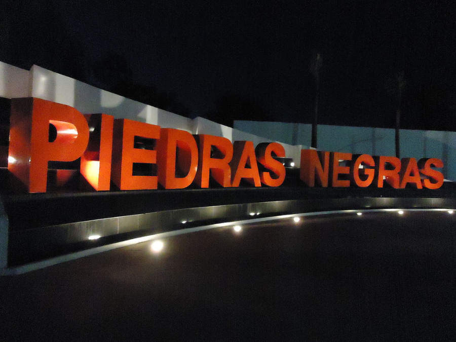 Letrero de Piedras Negras, Coahuila