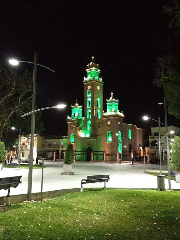Iglesia de Nuestra Señora de Guadalupe de noche