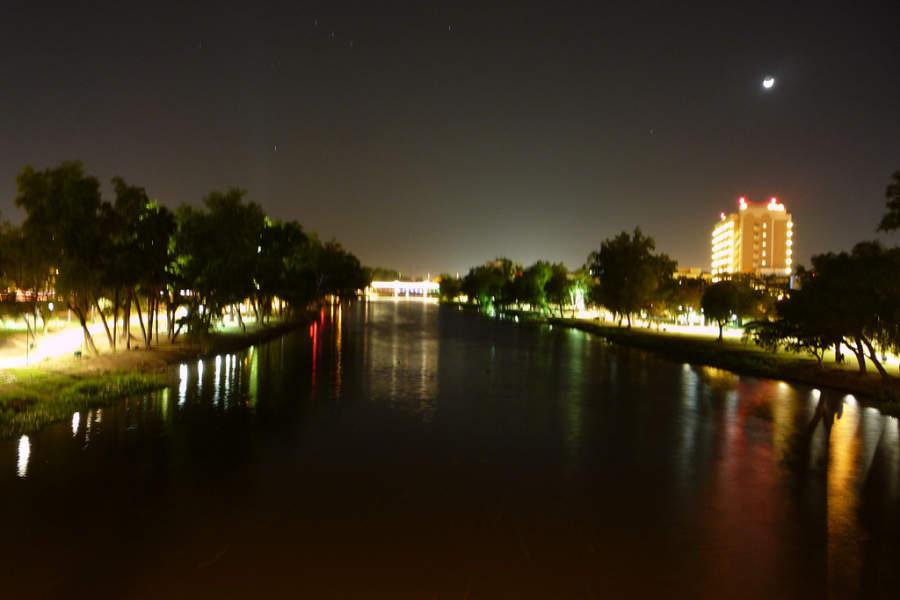 Vista nocturna de Culiacán