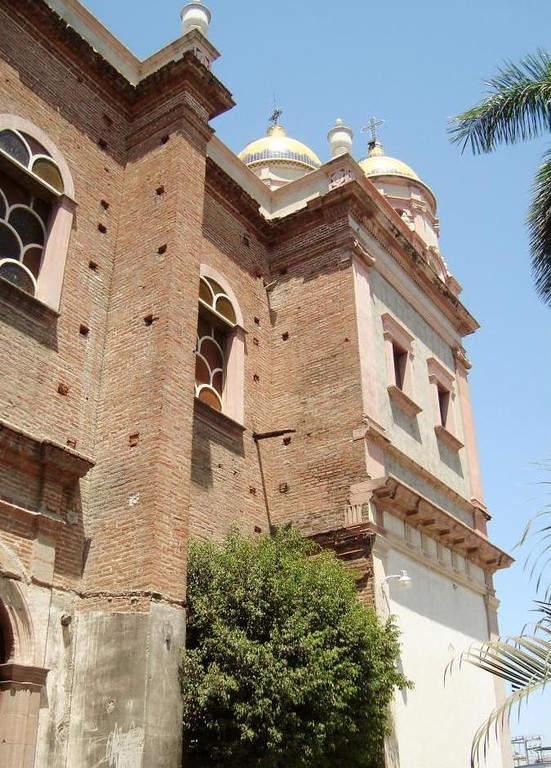 Detalle del Santuario del Sagrado Corazón de Jesús en Culiacán
