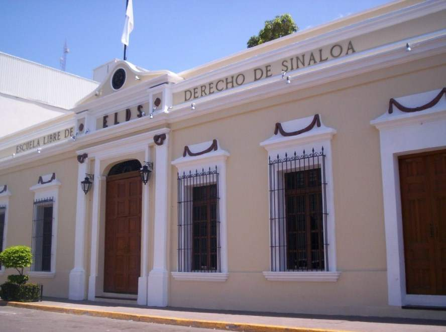 Escuela Libre de Derecho de Sinaloa en el centro histórico de Culiacán