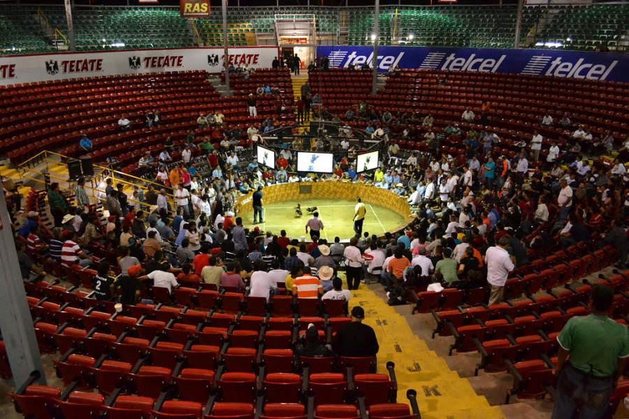 Palenque en la Feria Ganadera de Culiacán