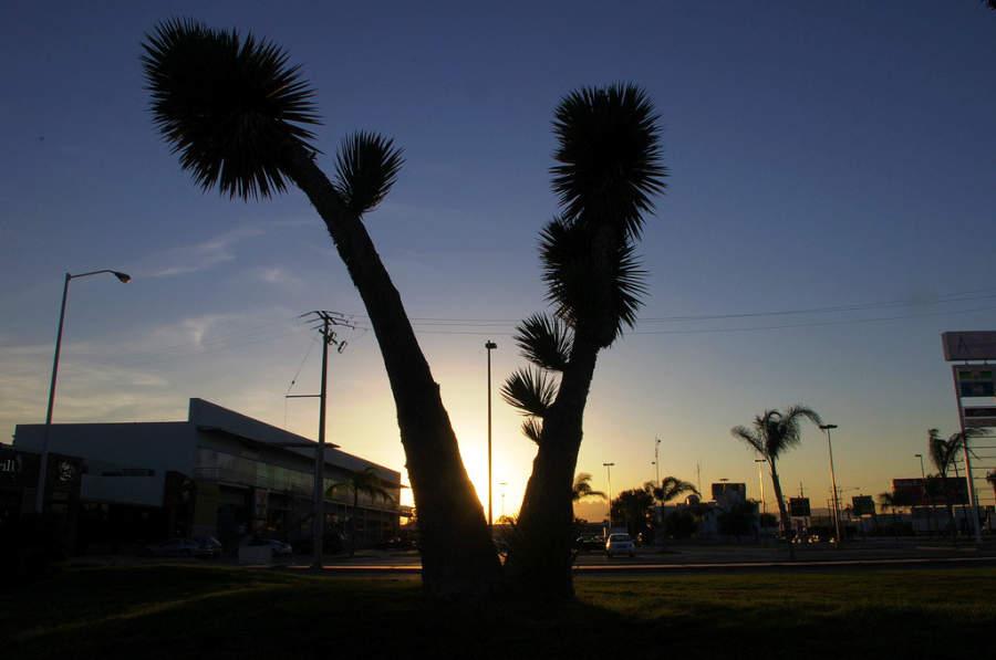 Puesta de sol en Ciudad Apodaca, Nuevo León